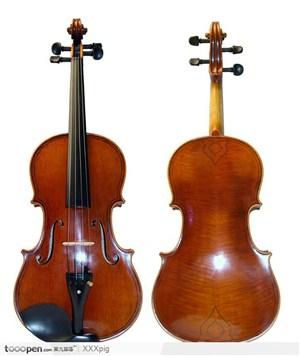 小提琴正反两面 高清图片