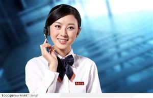 微笑的客服人员图片素材