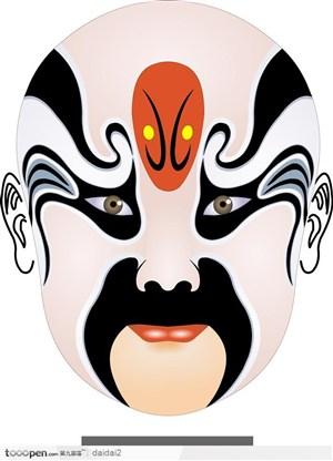 传统艺术京剧脸谱图片