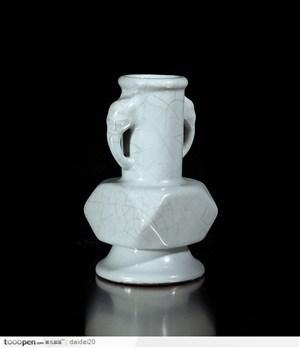 中华传统工艺品白色的瓷壶图片