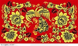 中国传统凤凰装饰花纹矢量素材