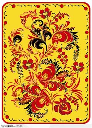 中国民间传统纹样装饰矢量背景