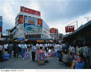 深圳城市风光-众多的商贩