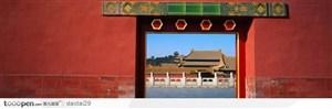 紫禁城印象-红色的城门