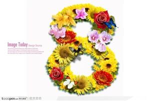 创意字体设计-花纹字体8