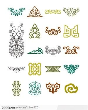中国传统古典吉祥云纹花边底纹