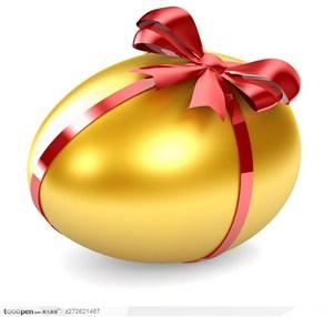 绑着丝带的金色巨蛋 金蛋