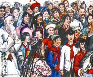 国画名家作品-黄胄的鞠躬尽瘁为人民