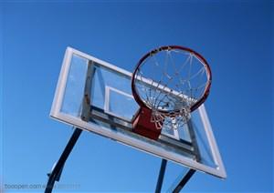 球类运动-仰视篮球框