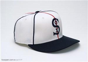 球类运动-黑白棒球帽特写
