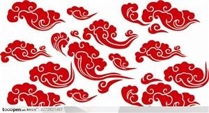 中国传统花纹祥云云纹矢量