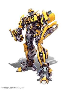 变形金刚-斜着站立的大黄蜂