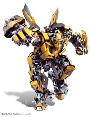 变形金刚-握着拳头前进的大黄蜂
